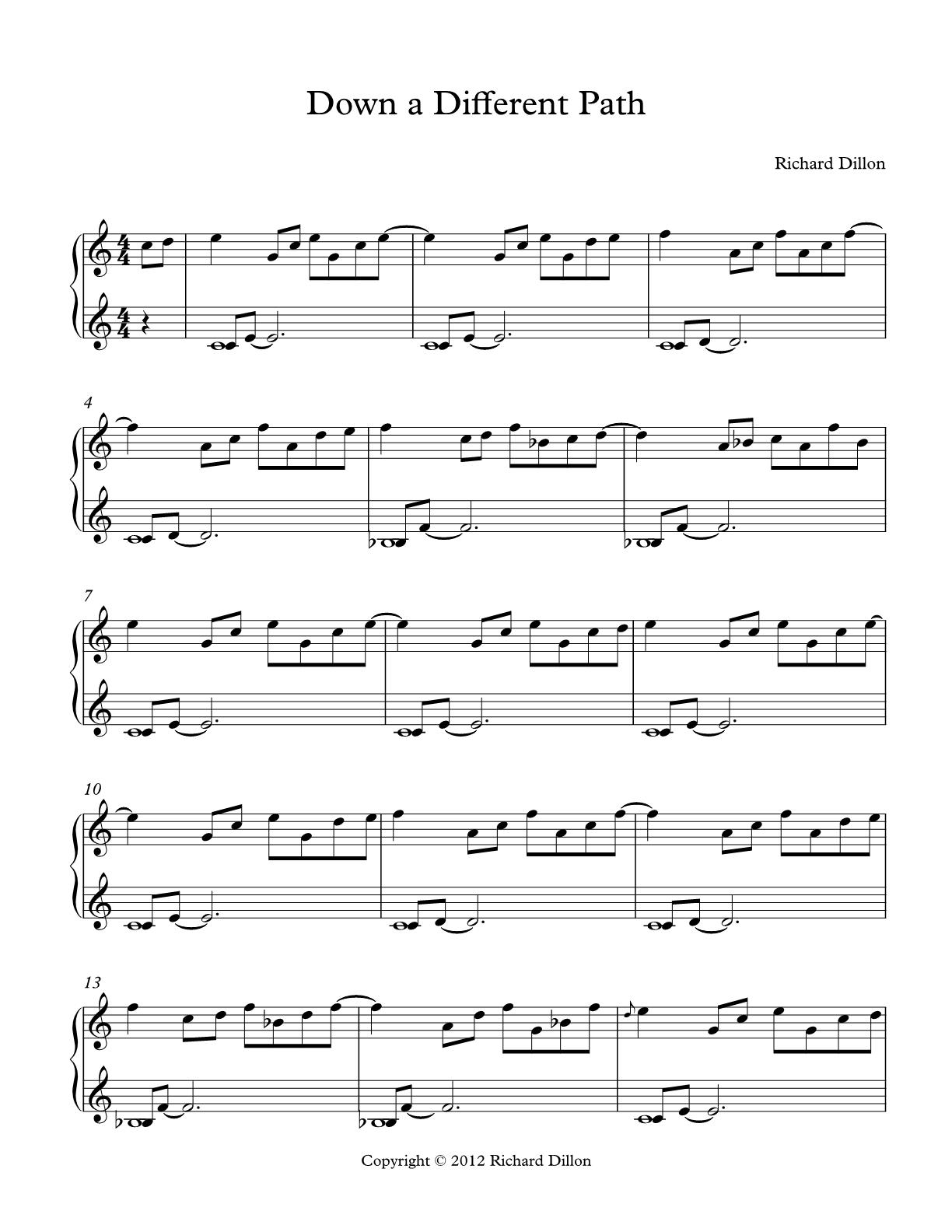 Richard Dillon's Store | PDF Sheet Music
